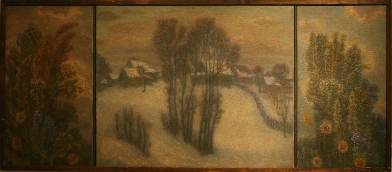 """Игорь Орлов """"Зимний пейзаж и травы. Триптих"""" 1998"""
