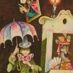 """Виктор Пивоваров """"Оле-Лукойе. Иллюстрация к книге Г.Х.Андерсена """"Сказки и истории"""" 1980"""