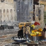 """Юрий Пименов """"Бумажные цветы и снег"""" 1945"""