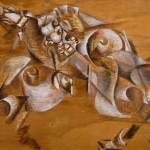 """Георгий Якулов """"Нападение льва на лошадь. Эскиз панно для кафе """"Стойло Пегаса"""" 1919"""