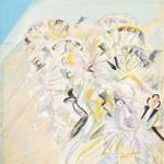"""Георгий Якулов """"Танцующие. Левая часть композиции (фрагмент). Макет программы спектакля. Оперетта Ш.Лекока """"Жирофле-Жирофля"""" 1922"""