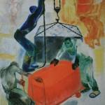 "4. Зернова Екатерина ""Фабрика ""Томат-пюре"" 1929 Холст, масло 105х75 Астраханская государственная картинная галерея"