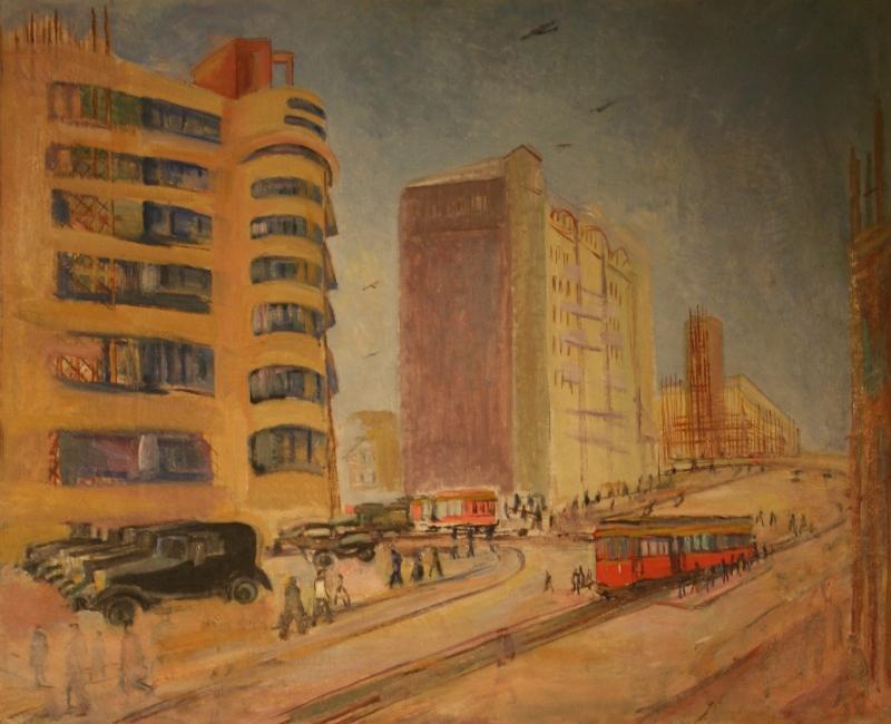 """Павел Кузнецов """"Москва. Садовое кольцо"""" Около 1933"""