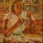 "Аристарх Лентулов ""Девушка на террасе. Пески (Дочь художника Марианна)"" Вторая половина 1930-х"