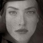 """Херб Ритц """"Татьяна с головой, покрытой вуалью (непроницаемый вид)"""" Джошуа-Три, 1988"""
