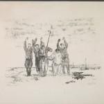 """Валентин Курдов """"Гитлер капут. Иллюстрация из серии """"По дорогам войны"""" 1944"""