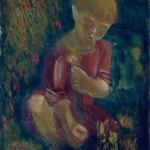 """Алексей Пахомов """"Девушка, собирающая цветы"""" 1928"""
