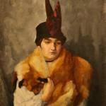 """Антонина Софронова """"Портрет дамы с лисой на плечах"""" 1913-1917"""