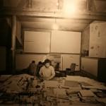 Илья Кабаков в своей мастерской, 1975 - фотограф В.Серов