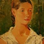 """Юрий Пименов """"Портрет девушки"""" 1934"""