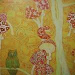 """24. Аникеенок Алексей """"Мухоморы"""" 1963 Холст, масло 74х74 Собрание """"Галеев-Галереи"""", Москва"""
