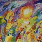 """27. Аникеенок Алексей """"Солнце в зените"""" 1969 Картон, масло 36х50 Собрание """"Галеев-Галереи"""", Москва"""