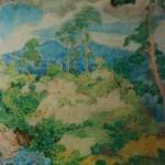 """8. Крымов Николай """"Горный ручей"""" 1907 Бумага, графитный карандаш, акварель 17,9х20,2 Государственная Третьяковская галерея"""