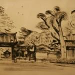 "Май Митурич ""Киото. Золотой павильон Кинкакудзи. Ворота"" 2002"