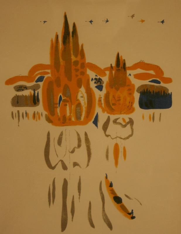 """Май Митурич """"Осень на Хамсаде"""" 1972"""