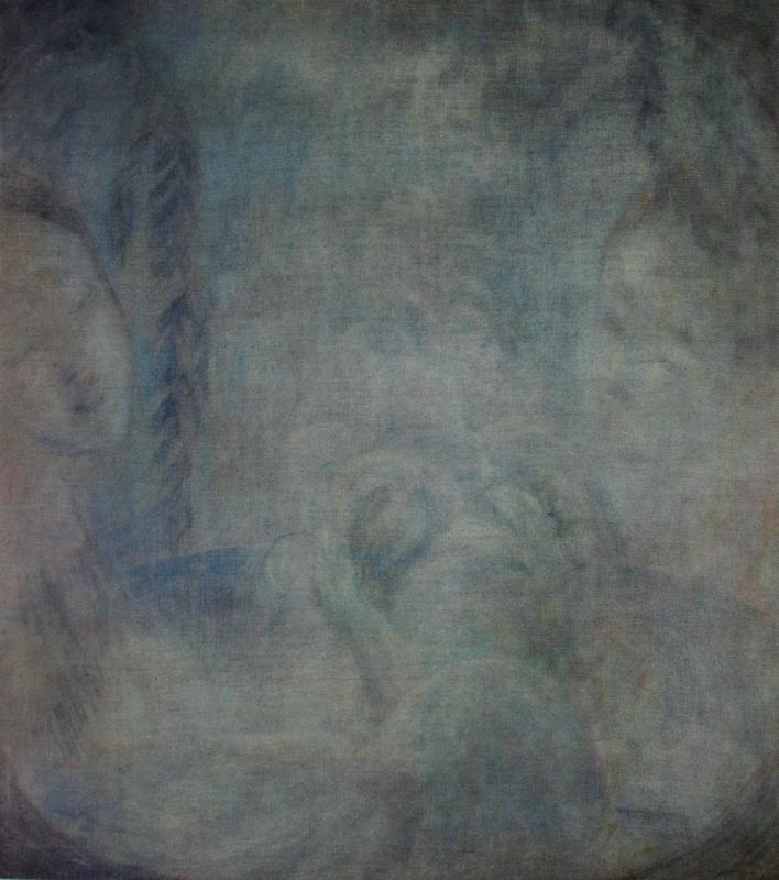 """11. Кузнецов Павел """"Рождение"""" 1906-1907 Пастель, холст 73х66 Государственная Третьяковская галерея"""