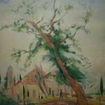 """116. Кузнецов Павел """"Дерево. Сочи"""" 1926 Темпера, холст 71х56 Из собрания И.М.Эрзаха"""