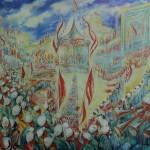 """123. Кузнецов Павел """"Советский праздник в Узбекистане"""" 1927 Холст, масло 145х181 Национальная галерея Армении, Ереван"""