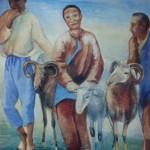 """124. Кузнецов Павел """"Киргизские пастухи"""" 1926 Холст, масло 116,4х98,2 Государственная Третьяковская галерея"""