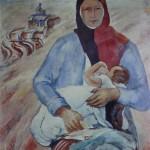 """129. Кузнецов Павел """"Мать"""" 1930 Холст, масло 120х100 Государственная Третьяковская галерея"""