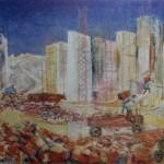 """132. Кузнецов Павел """"Строительство в Армении"""" 1930-1931 Холст, масло 97,5х142 Государственный Русский музей"""