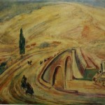 """137. Кузнецов Павел """"Мост через Зангу"""" 1932 Холст, масло 68,7х96,5 Пермская государственная художественная галерея"""