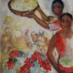 """141. Кузнецов Павел """"Красный виноград"""" 1931 Холст, масло 97,5х69 Государственный Русский музей"""