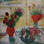 "145. Кузнецов Павел ""Красные цветы"" 1934 Холст, масло 88х110 Государственный Русский музей"