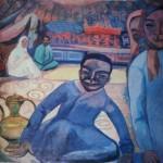 """15. Кузнецов Павел """"Киргизские дети"""" 1909 Темпера, холст 94,3х98,5 Рязанский областной художественный музей"""