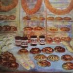 """154. Кузнецов Павел """"Хлебная витрина"""" 1955 Холст, масло 121х151 Львовская картинная галерея"""