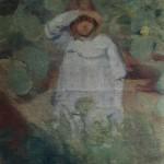 """4. Кузнецов Павел """"Девочка на солнце"""" 1901-1902 Холст, масло 56х48 Из собрания О.М.Дурылиной"""