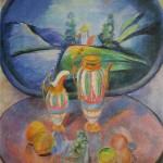 """58. Кузнецов Павел """"Натюрморт с подносом"""" 1913 Холст, масло 107,4х89,2 Омский музей изобразительных искусств"""
