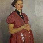 """1. Жилинский Дмитрий """"Портрет жены"""" 1953 Холст, масло 85х70"""