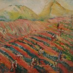 """Павел Кузнецов """"Сбор чая (Чайные плантации. Чаква)"""" 1928"""