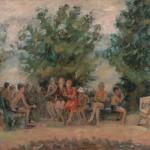 "14. Рубанов Иосиф ""После завтрака"" 1936 Холст, масло 39,5х54 Собрание семьи художника"