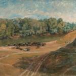 """18. Рубанов Иосиф """"Стадо"""" 1938 Холст, масло 65х80 Собрание семьи художника"""