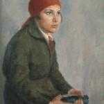 """5. Рубанов Иосиф """"Пионервожатая"""" 1928 Холст, масло 80х66,5 Государственный Русский музей"""