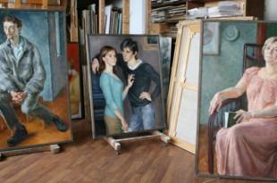 В мастерской художника. Елена Рубанова.