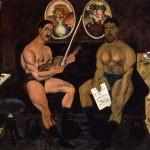"""Илья Машков """"Автопортрет и портрет Петра Кончаловского"""" 1910 (ГРМ)"""