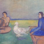 "Павел Кузнецов ""Киргизки с голубями"" 1915-1916"