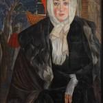 """Борис Григорьев """"Женский портрет"""" 1917"""