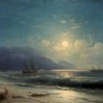 """Иван Айвазовский """"Лунная ночь. Ялта"""" 1887"""