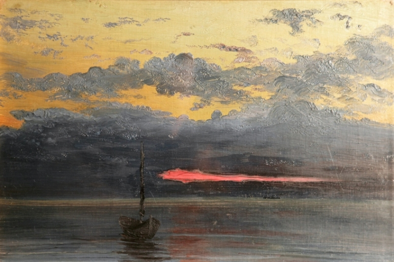 """Александр Борисов """"Полночь на Мурмане"""" 1896"""