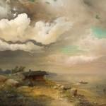 """Алексей Саврасов """"Рыбаки. Берег Днепра"""" 1859"""