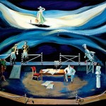 "Т.Гарина ""Эскиз декорации к спектаклю ""Корсиканка"" И.Губача"" 2002"