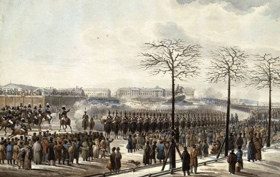 """К.И.Кольман """"Восстание на Сенатской площади 14 декабря 1825 года"""" 1830-е"""