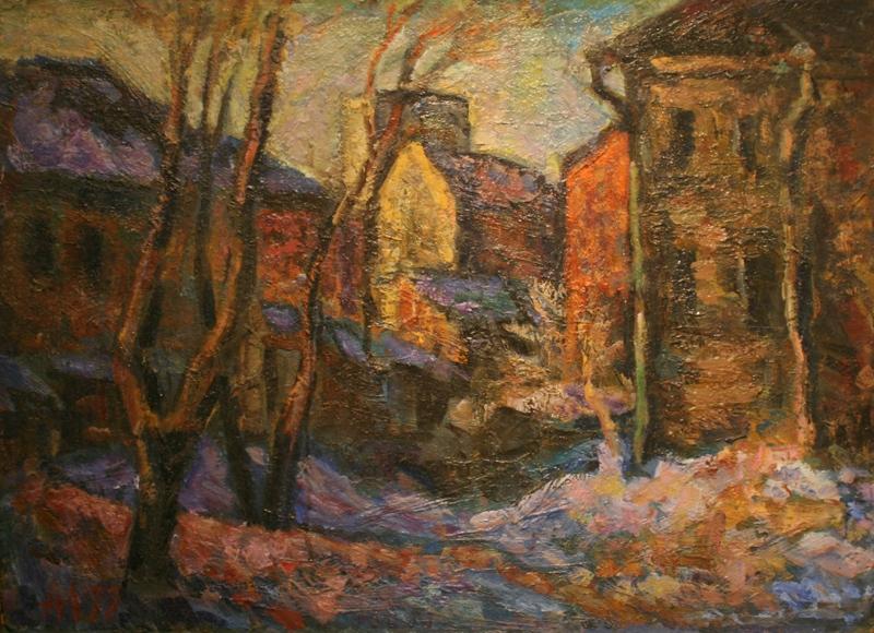 """Алексей Лазыкин """"Зима на Таганке"""" 1977"""