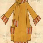 """Любовь Попова """"Эскиз пальто"""" 1924"""