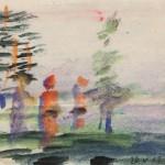 Борис Чернышёв «Анискино. Прогулка в соснах» 1967