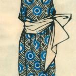 """Любовь Попова """"Эскиз платья"""" 1924"""